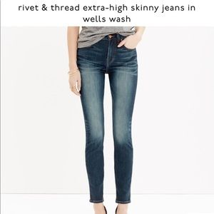 Madewell Rivet & Thread extra High Rise Skinny